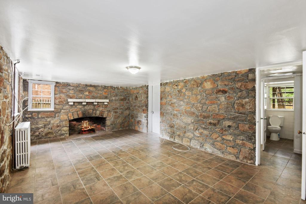 Spacious Rec Room in the basement with Fireplace - 3209 19TH RD N, ARLINGTON