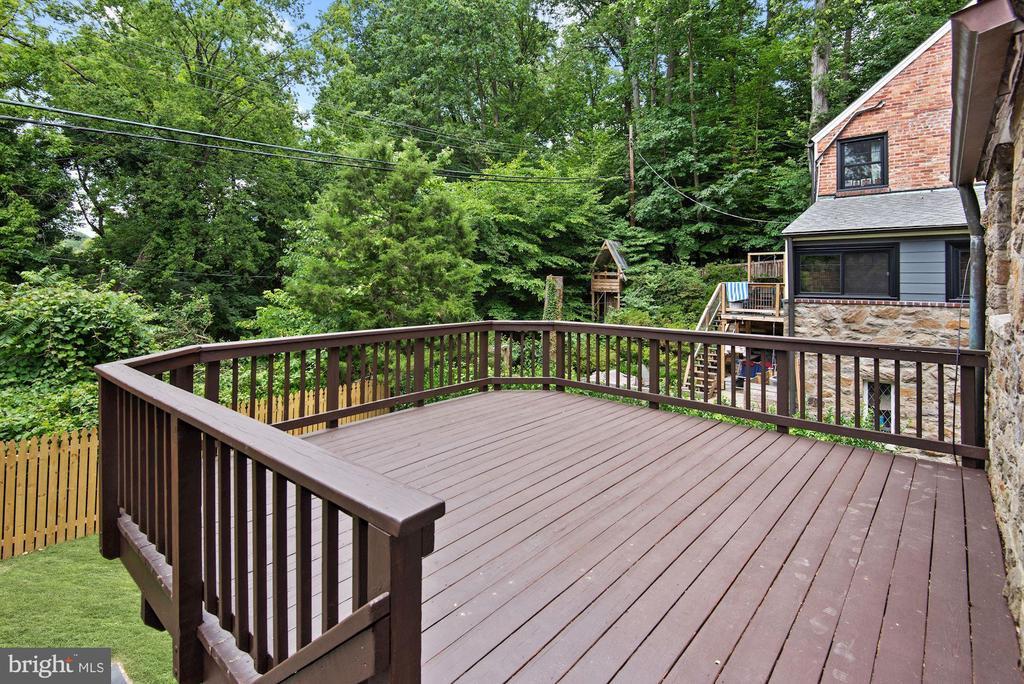Deck, and fenced backyard - 3209 19TH RD N, ARLINGTON