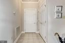 The entry foyer has a nice sized coat closet - 117 EASY ST #31, THURMONT