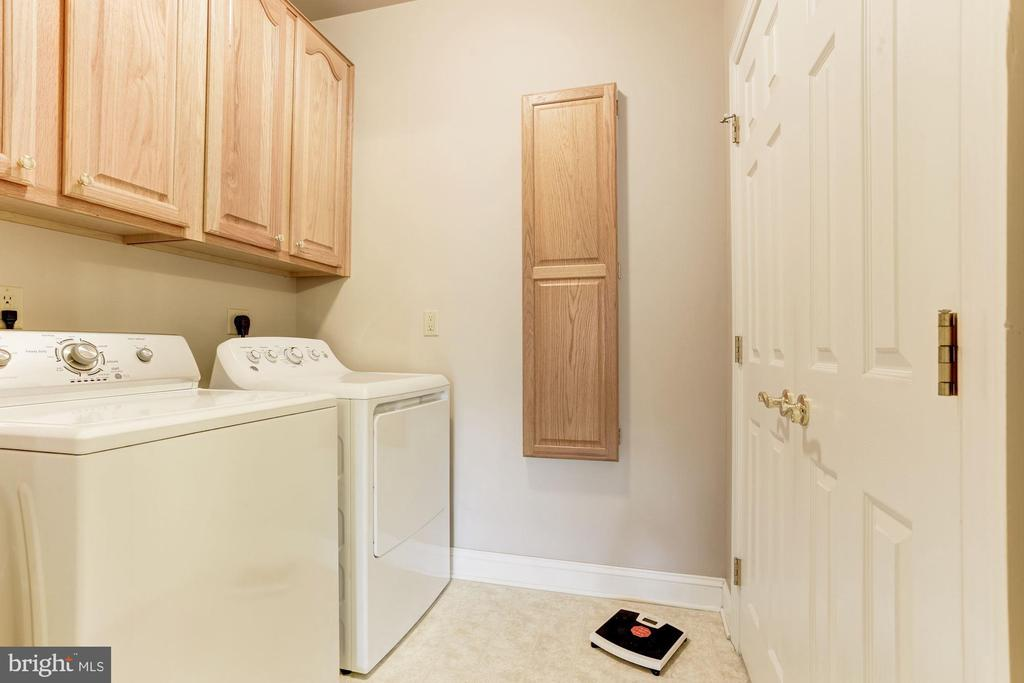 Laundry room with cabinets AND a closet - 117 EASY ST #31, THURMONT