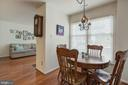 Dining room - 6010 CHESTNUT HOLLOW CT, CENTREVILLE