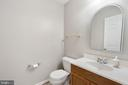 Lower level half bath - 6908 SUSQUEHANNA RD, GAINESVILLE