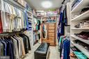 Walkin closet w/ custom built-in organizer system - 20660 HOPE SPRING TER #407, ASHBURN