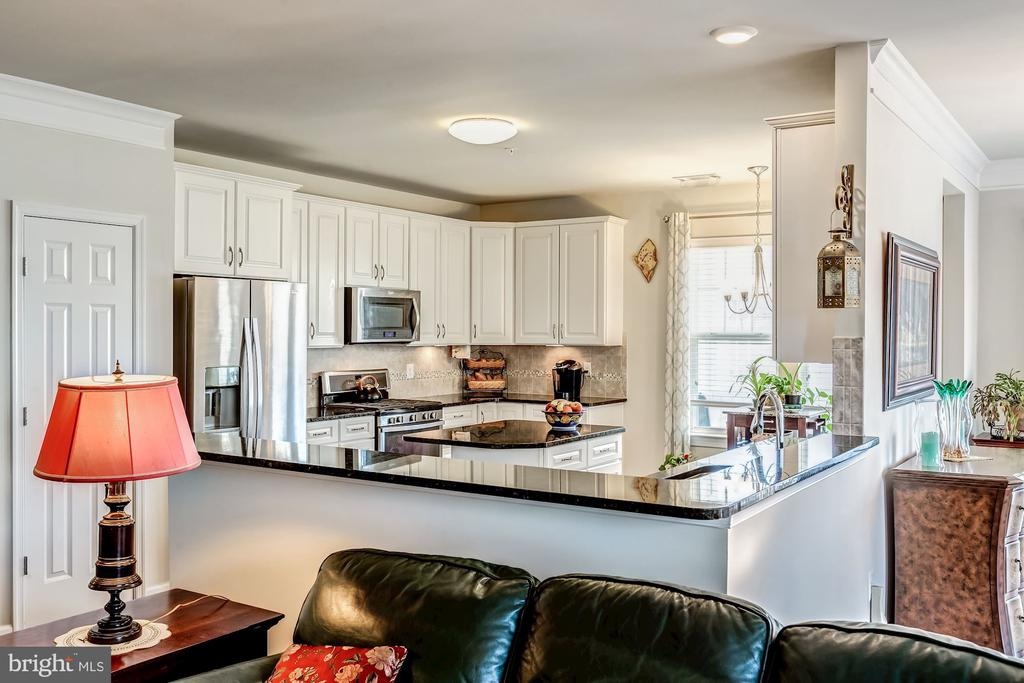 Gourmet kitchen open to living room - 20660 HOPE SPRING TER #407, ASHBURN