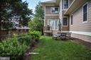 private patio off deck from family room - 3401 N KENSINGTON ST, ARLINGTON