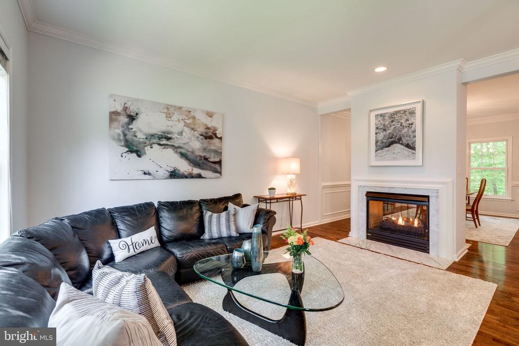 Double-Sided Fireplace in Living  & Dining Room - 29 DERRICK LN, STAFFORD