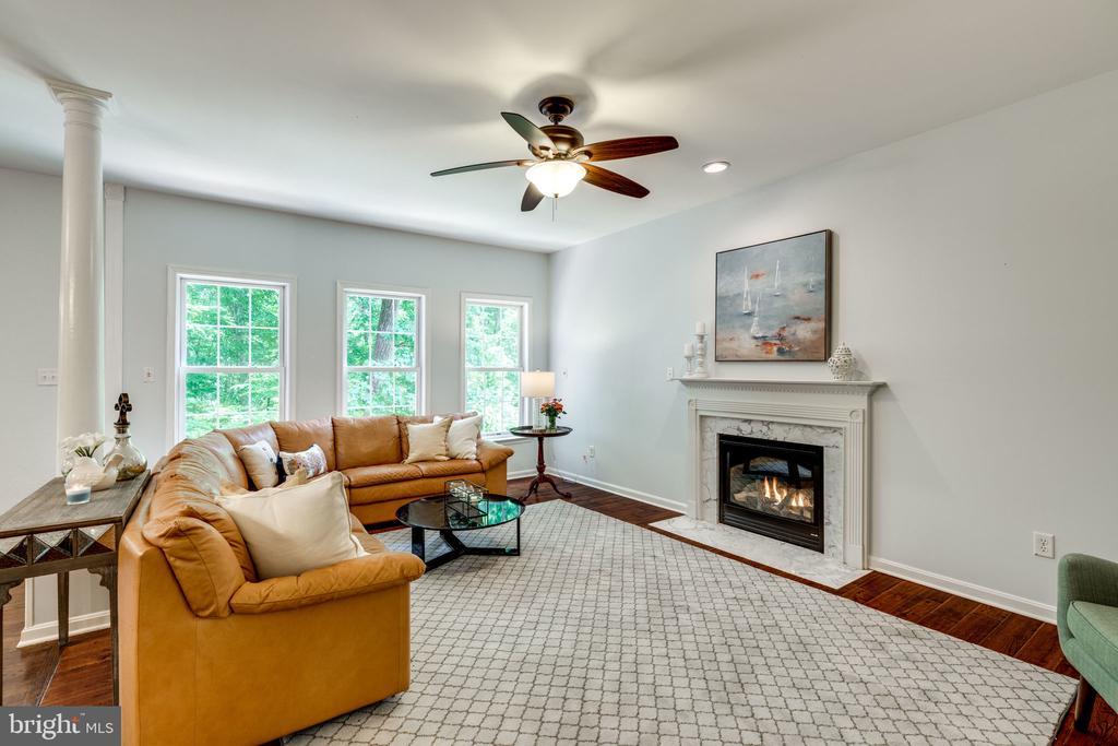 Family Room with Fireplace - 29 DERRICK LN, STAFFORD