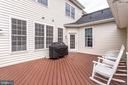 Deck with composite decking - 22584 WILLINGTON SQ, ASHBURN
