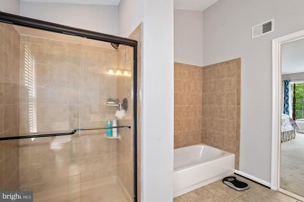 Separate tub and shower in master suite - 20311 BROAD RUN DR, STERLING