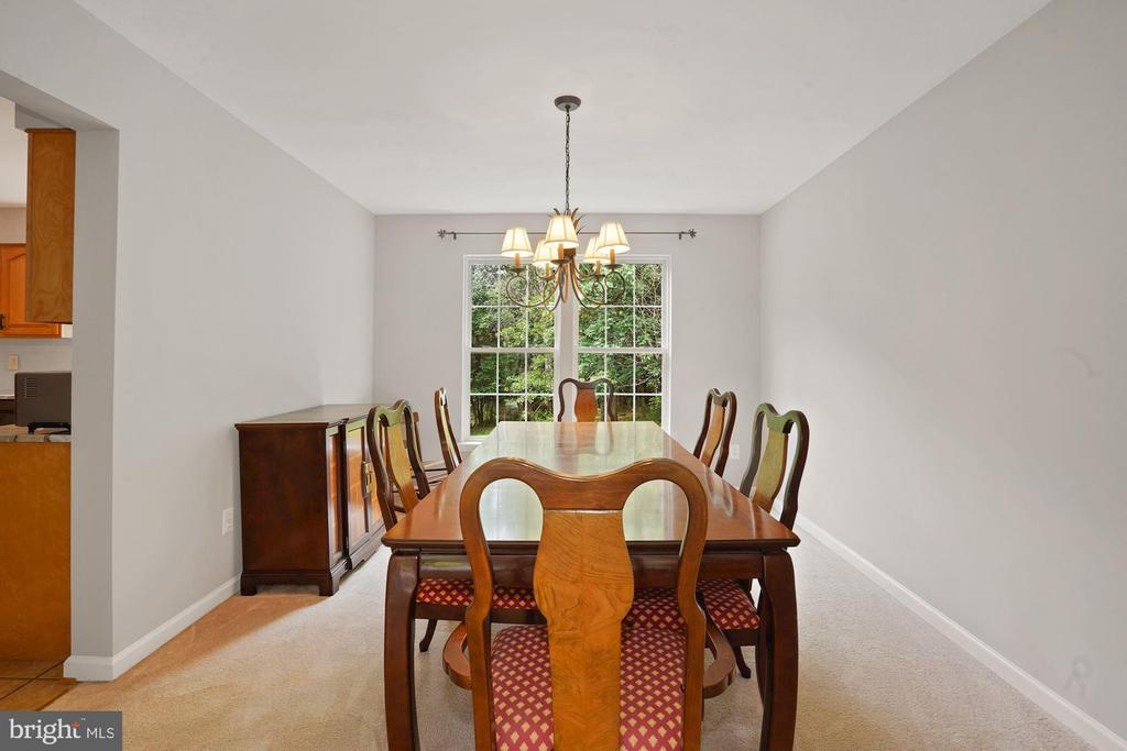 Dining room is just off the kitchen - 20311 BROAD RUN DR, STERLING
