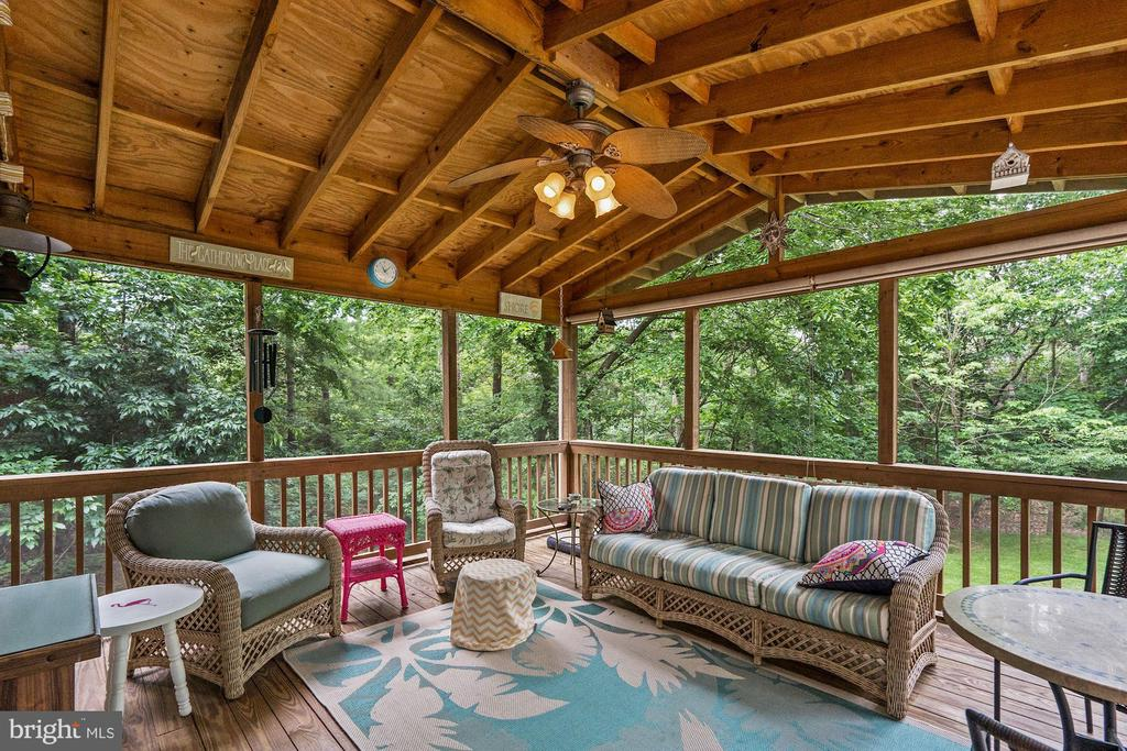 Huge screened porch is virtually bug proof - 20311 BROAD RUN DR, STERLING