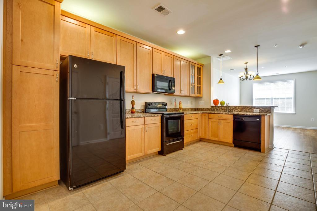 Upgraded Cabinets and Over Cabinet Lighting - 22755 SETTLERS TRAIL TER, BRAMBLETON