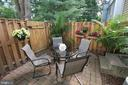 Private fenced in patio area - 11276 SILENTWOOD LN, RESTON