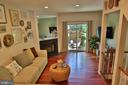 Inviting livingroom with Brazilian cherry floors!! - 11276 SILENTWOOD LN, RESTON