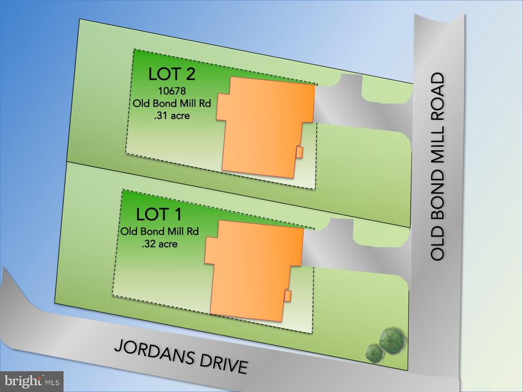10674 is Lot 1- corner Jordan Dr and Old Bond Mill - 10674 OLD BOND MILL RD, LAUREL