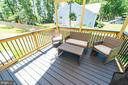 Covered Porch/Deck off the Kitchen - 4 WELLSPRING DR, FREDERICKSBURG