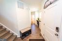 Main Level Hallway to Powder Room - 4 WELLSPRING DR, FREDERICKSBURG