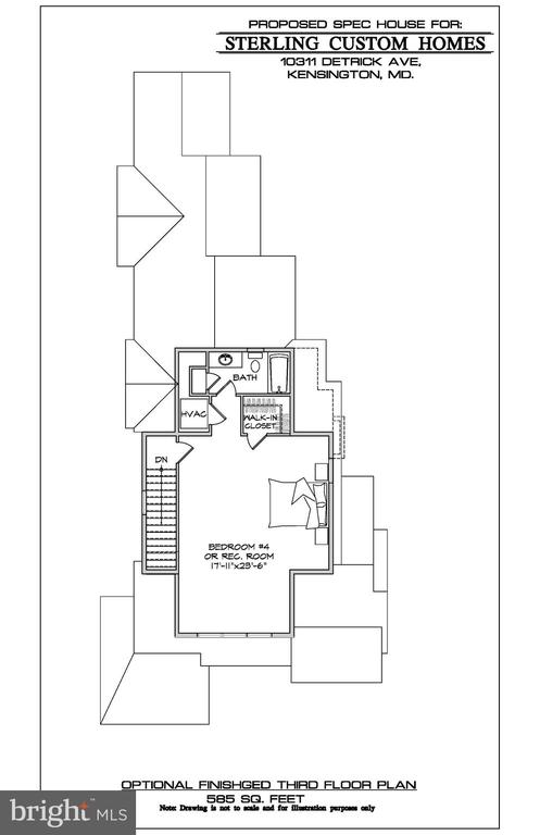 OPTIONAL 3RD FLOOR PLAN - 10307 DETRICK AVE, KENSINGTON