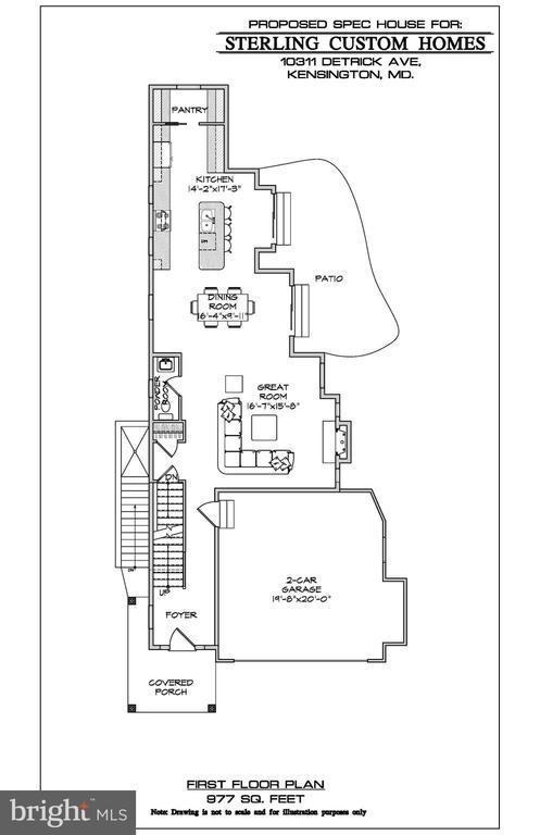1ST FLOOR PLAN - 10307 DETRICK AVE, KENSINGTON