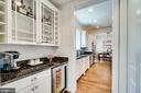 Butler's Pantry w/ wine refrigerator - 8720 PLYMOUTH RD, ALEXANDRIA