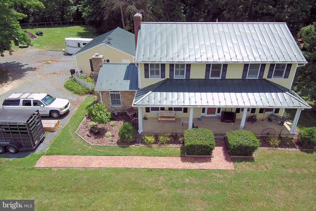 Over view of the house and beautiful tin roof - 323 HARTWOOD RD, FREDERICKSBURG