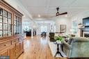 Living/Dining open flow on main level - 8720 PLYMOUTH RD, ALEXANDRIA