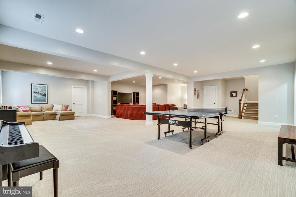 Basement w/ recessed lighting - 8720 PLYMOUTH RD, ALEXANDRIA