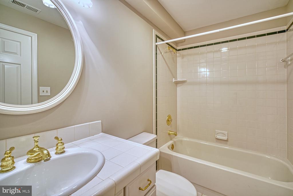 Full bathroom in basement - 12302 CANNONBALL RD, FAIRFAX