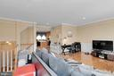 Living Room with Open  Railing to Foyer! - 8187 COBBLE POND WAY, MANASSAS