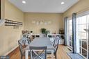 Dining Room with Sliding Glass Door to Backyard! - 8187 COBBLE POND WAY, MANASSAS
