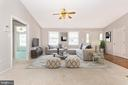 Staged living room - 123 BENNETT DR, THURMONT