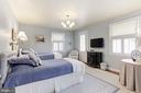 Bedroom #3 with access to Balcony - 5212 UPTON TER NW, WASHINGTON