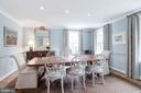Graciously-scaled Dining Room - 5212 UPTON TER NW, WASHINGTON
