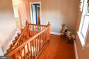 View from Master bedroom hallway /stairwell - 323 HARTWOOD RD, FREDERICKSBURG