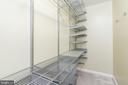 Huge owner's suite closet with Elfa system - 9815 CAMPBELL DR, KENSINGTON
