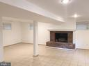 Lower level res-room , fireplace with gas logs. - 6641 KERNS RD, FALLS CHURCH