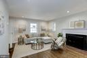 Living room with wood burning fireplace - 926 26TH ST S, ARLINGTON