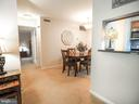 Leading into the dining room - 10320 LURIA COMMONS CT #3 H, BURKE