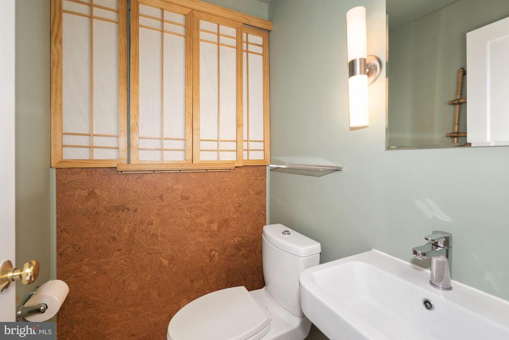 Main floor half bath with extra storage - 3311 OBERON ST, KENSINGTON