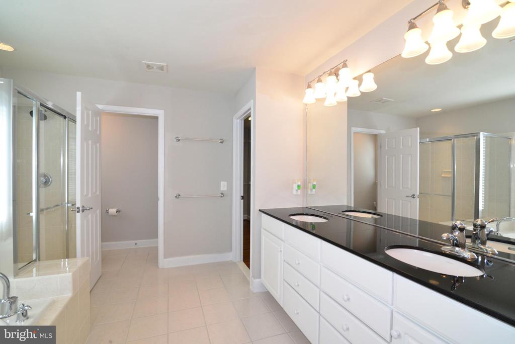 The master bath with a oversized double vanity - 42814 RAVENGLASS DR, ASHBURN