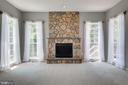 STONE FIREPLACE ADDS CHARACTER TO THE FAMILY ROOM! - 42345 ASTORS BEACHWOOD CT, CHANTILLY