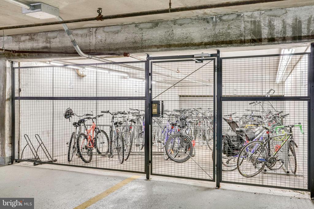 Bike Storage underground in the parking garage - 2939 VAN NESS ST NW #1017, WASHINGTON