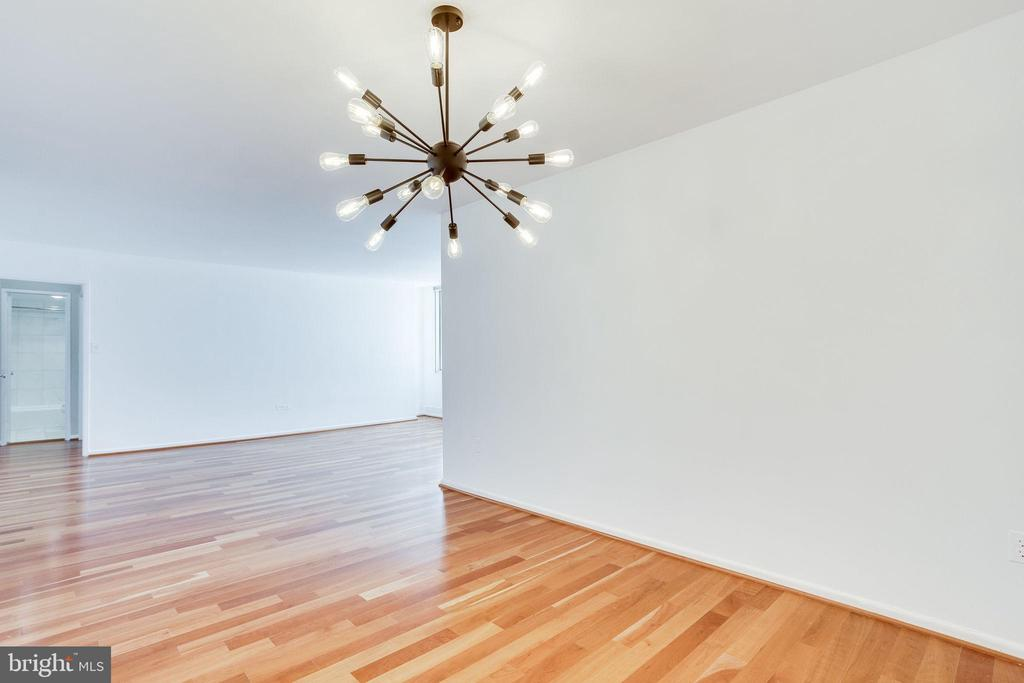 Dining Room with upgraded lighting - 2939 VAN NESS ST NW #1017, WASHINGTON