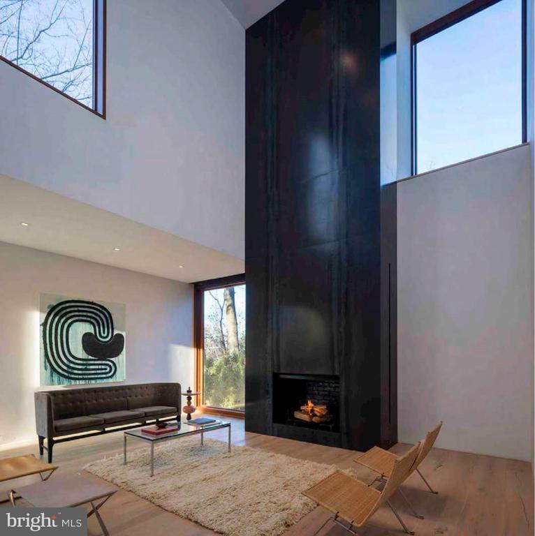 2-Story Living Room - 3131 CHAIN BRIDGE RD NW, WASHINGTON