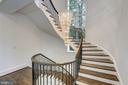 Curved Staircase & Crystal Chandelier - 8313 PERSIMMON TREE RD, BETHESDA