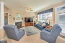Family room opens to deck overlooking the lake - 106 CONFEDERATE CIR, LOCUST GROVE