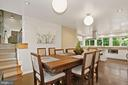 Spacious Dining Area - 3421 STONEYBRAE DR, FALLS CHURCH