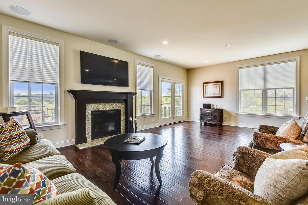 HUGE Family room area w/ Fireplace - TV Conveys - 22602 PINKHORN WAY, ASHBURN