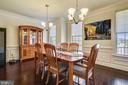 Can accommodate a much larger dining table - 22602 PINKHORN WAY, ASHBURN