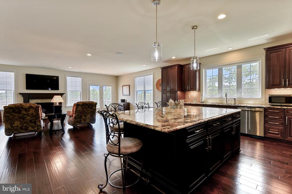 View from Kitchen to Family Room - 22602 PINKHORN WAY, ASHBURN